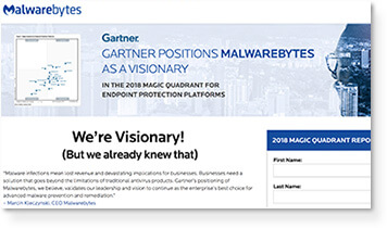Gartner: 2018 Magic Quadrant for Endpoint Protection Platforms