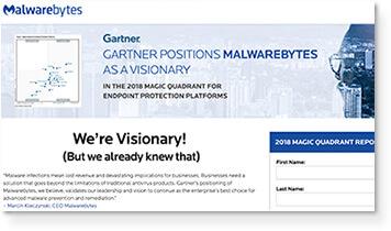 Gartner: 2018 Magic Quadrant for Endpoint Protection Platforms