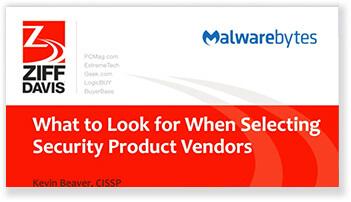 ¿Qué se debe buscar cuando se seleccionan proveedores de productos de seguridad?