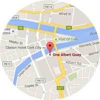 Map location of Cork, Ireland office
