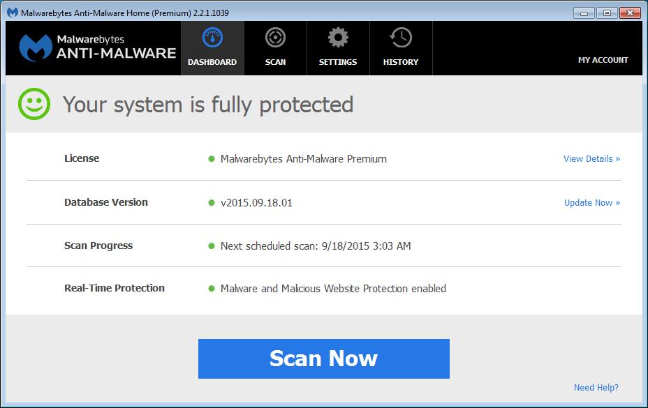 Malwarebytes Anti-Malware Help - Activation