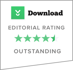 Download Outstanding Editorial Rating 4.5 Stars