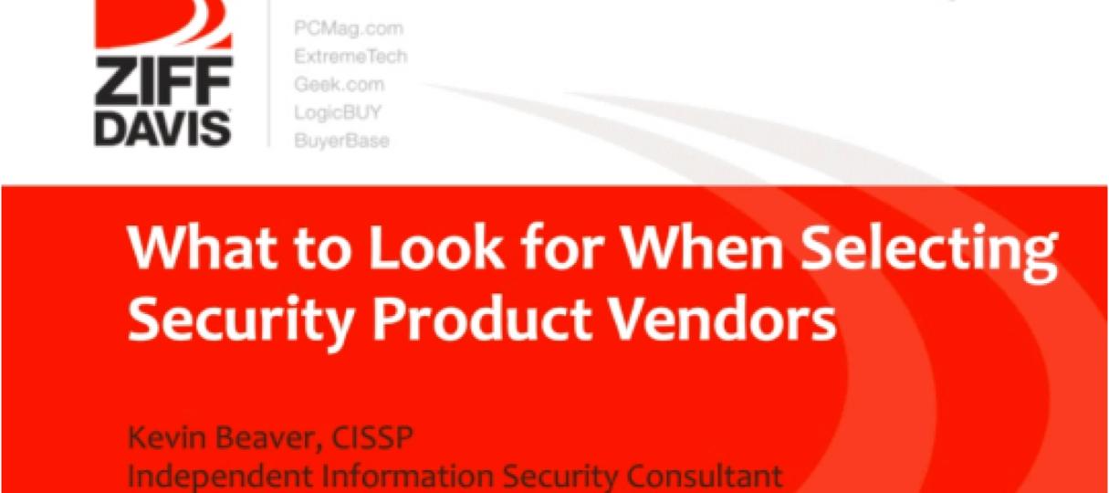 selecting security product vendors