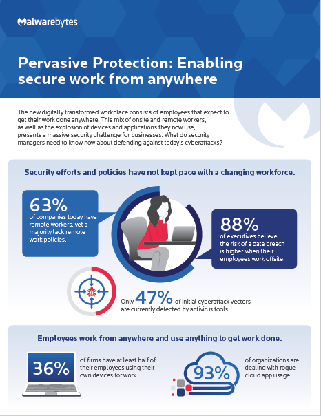 Pervasive Protection: Enabling secure work from anywhere infographic